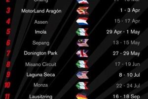 Calendario Superbikes Temporada 2016
